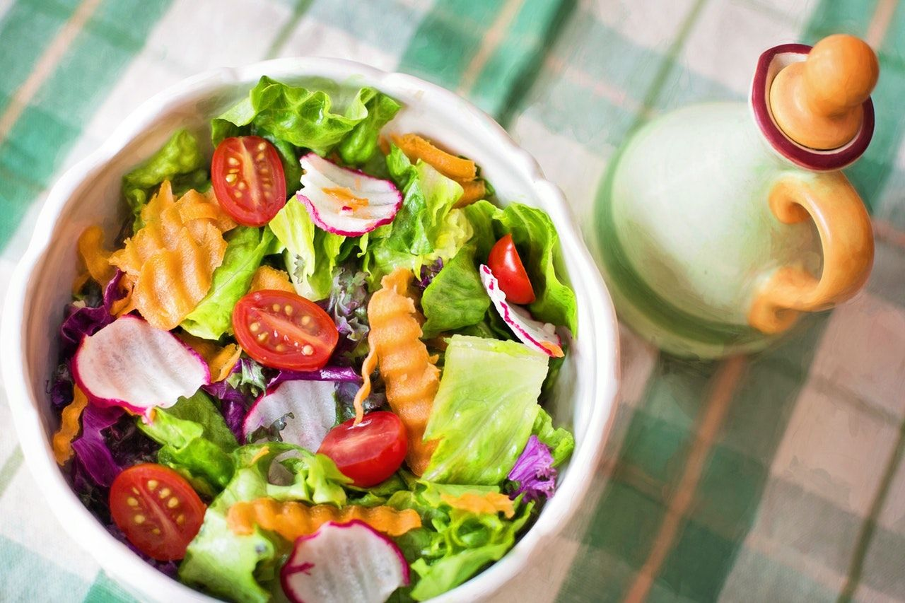 Prato de salada low carb