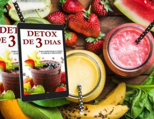 detox de 3 dias para desinchar o corpo